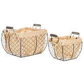 Square Lined Chicken Wire Basket Set